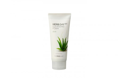 THE FACE SHOP, Herb, Day, Cleansing Foam, Aloe,kosmetik korea, whitening