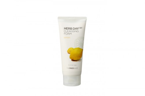 THE fACE SHOP, Herb Day, 365, Cleansing Foam, Lemon,kosmetik korea, whitening