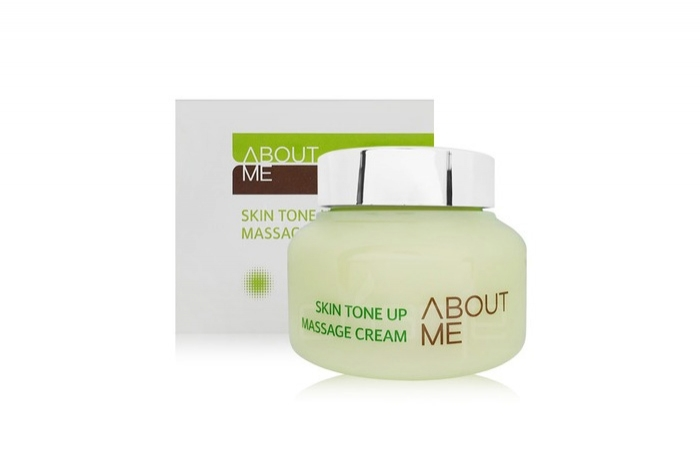 About me skin tone up massage creamOwn label brand